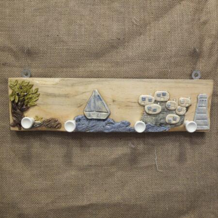 Κρεμάστρα τοίχου με θέμα νησί, για εφηβικό δωμάτιο.
