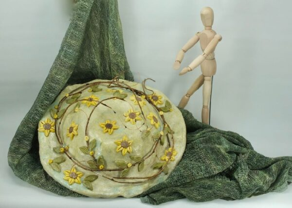 Διακοσμητικό καπέλο με ηλιοτρόπια, ηλίανθος.