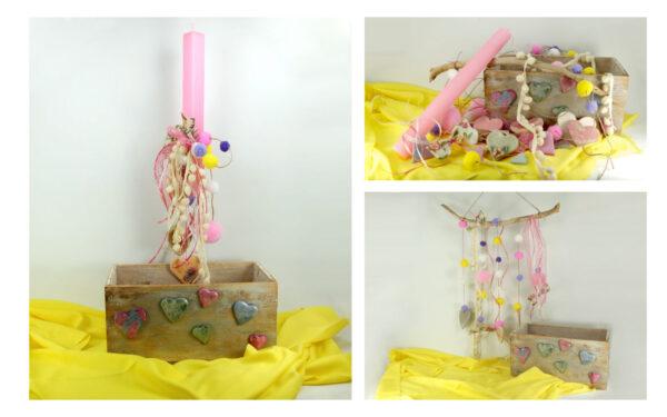 Πασχαλινή λαμπάδα με χειροποίητα διακοσμητικά για το παιδικό δωμάτιο. Craft KIT for kidw